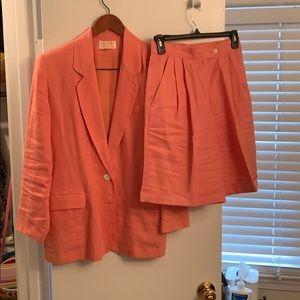 Shorts suit jacket is size 6 shorts size 4